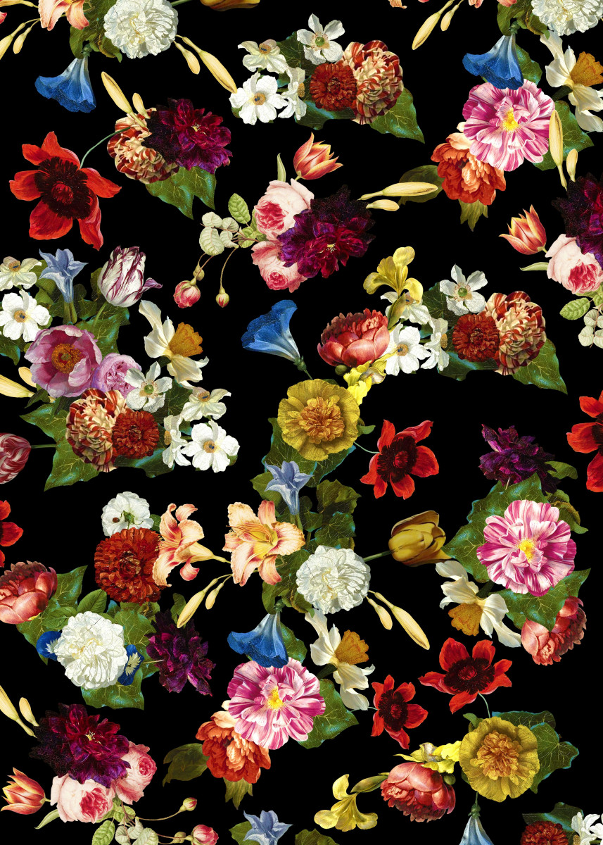Flowery (black version) Fill your house and yourself with brightly ol 55199