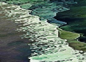 shoreline ocean water calm waves sea bluegreen