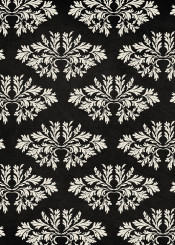 dverissimo abstract pattern black white leafs foliage nature vintage