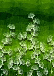 dverissimo abstract pattern leafs forest nature green hills weed spring