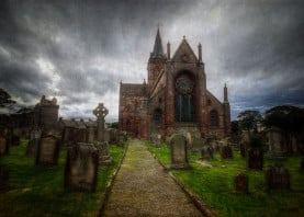 st magnus cathedral orkney scotland landscape photography cemetery kirkwall