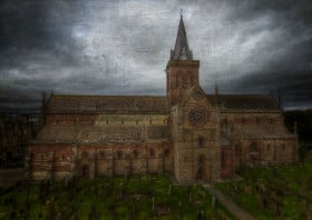 orkney st magnus cathedral kirkwall photography cemetary graveyard religious