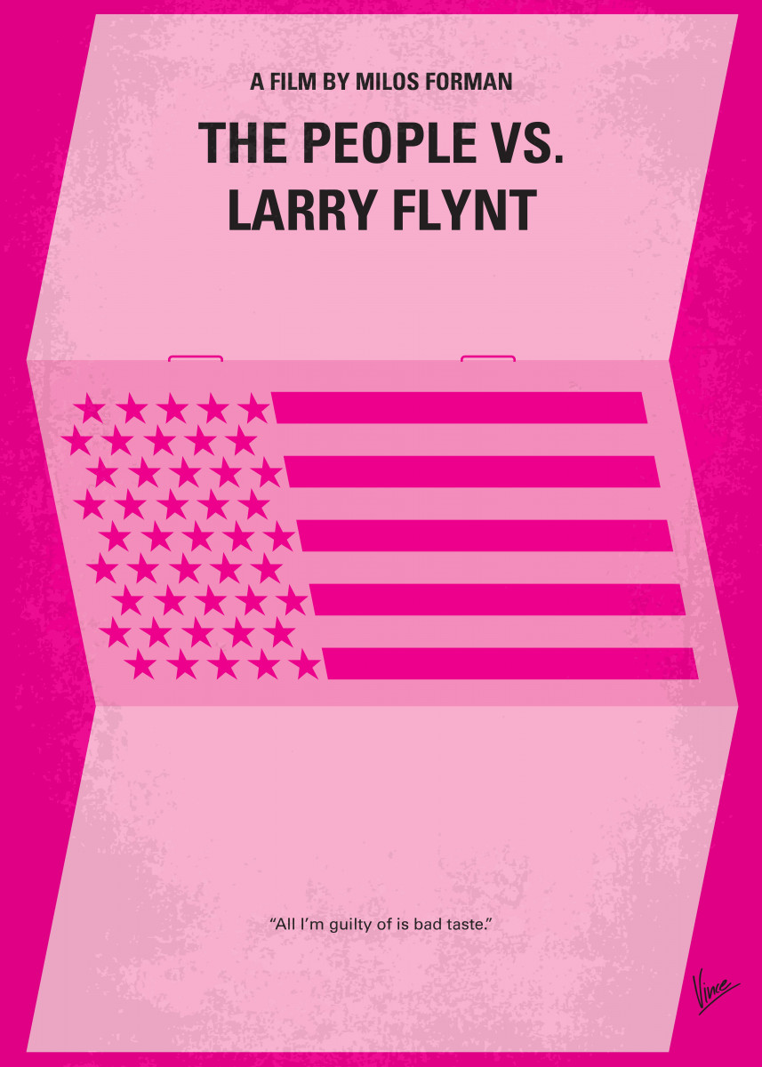 No395 My The People vs. Larry Flynt minimal movie poster A partially 58672