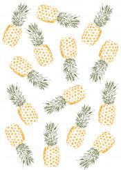 pineapple fruit orange green fun pattern