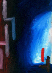 abstract paint painting color red blue white expression expressionism
