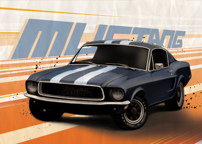 Eden Design Classic Cars   Displate Prints on Steel