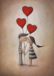 love balloons kiss