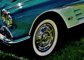 old car corvette vintage turquoise