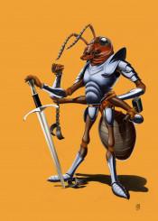 illustration creative art design pencil photoshop animal nature sketch ant soldier