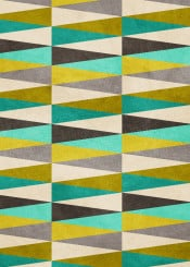 dverissimo green yellow triangles beige brown shapes pattern abstract 30