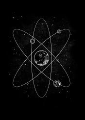 science atom planets stars universe cosmos tobe fonseca tobias fonseca art design black white lines