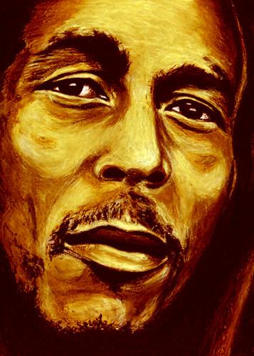 oil pastel masic reggae bob marley color emotions Paintings ...