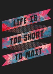 typography typo life quote unique color neon life is short inspirational