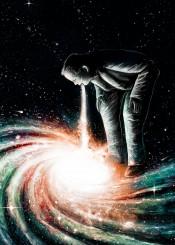 space cosmic vomit stars galactic galaxy nicebleed digital painting