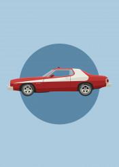 cars tv starsky hutch ford gran torino movie motor auto automobile