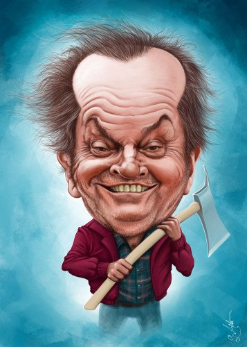 Here S What Kylie Jenner Lipstick Looks Like On: Jack Nicholson Caricature By Giordano Aita