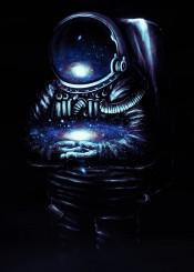 space galaxy stars astronaut universe digital painting