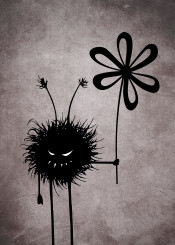 evil gothic vintage character cute funny flower texture dark bug