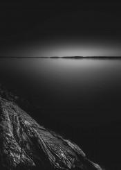 black and white contrast dark europe forest harsh house lake landscape landscapes light moody mornin