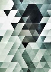white black glow abstract geometric geometry triangles 3d depth