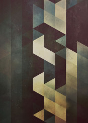 black dark brown blue dystopian abstract geometry geometric isometric texture