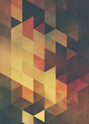 orange gold dust triangle abstract geometric geometry