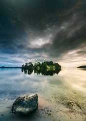 lake nature landscape water forest sky beautiful reflection summer scene outdoor outdoors clouds sun