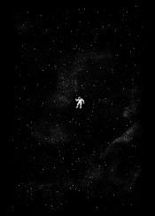 gravity cosmos astronaut stars universe galaxy night sky tobe fonseca tobias fonseca art design