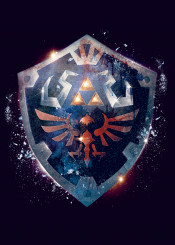 legendofzelda hylianshield shield zelda hyrule kingdom triforce nintendo game epic dramatic