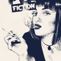 Pulp Fiction - Dotwork altvernative movie poster