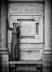 model woman girl venice architecture italy fashion