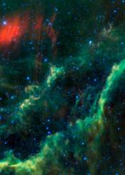 menkhib and the california nebula nasa space photo photograph green red dark universe