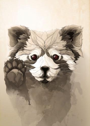 Red Panda by Rafapasta CG  Displate