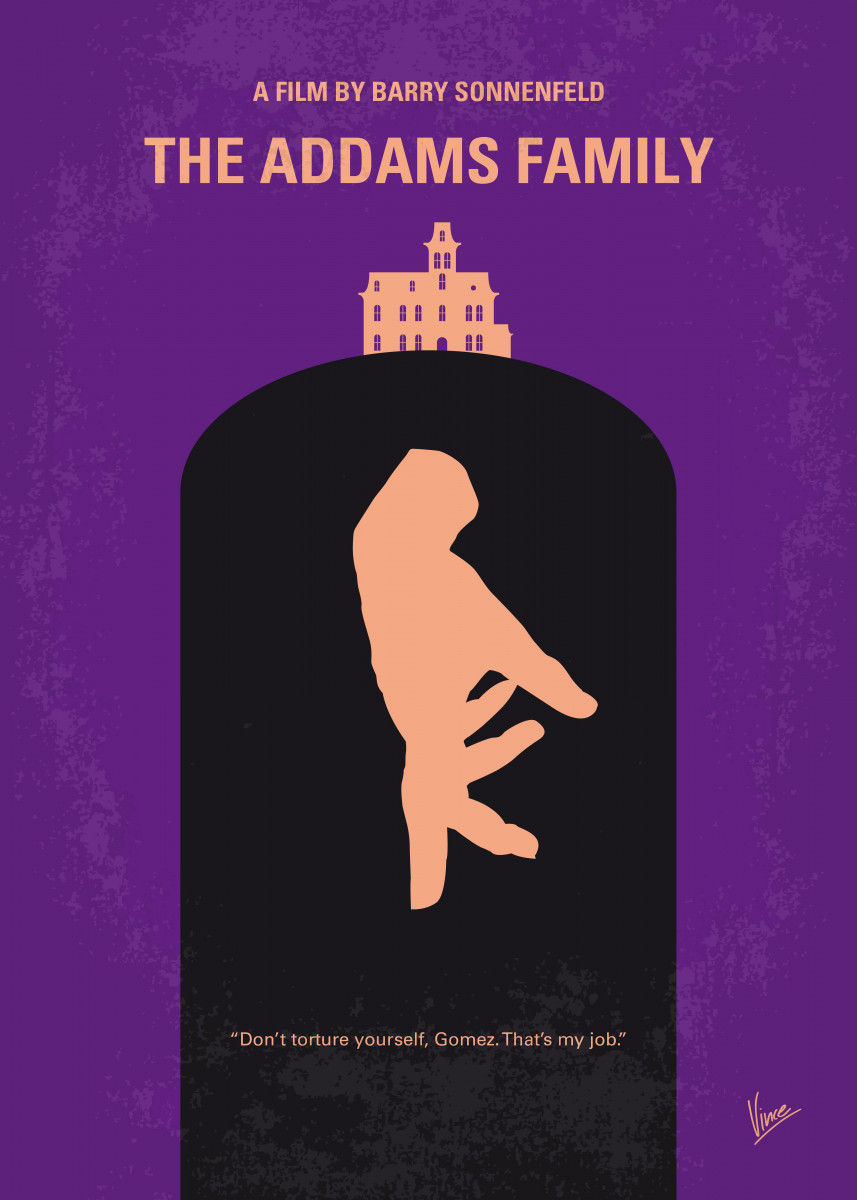 No423 My The Addams Family minimal movie poster Con artists plan to f