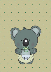 koala baby cute sweet dots adorable diaper soother