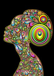 woman portrait psychedelic profile graphicart girl beauty abstract popart design