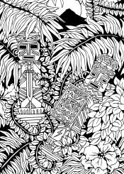 aztecs warriors totem indianink rainforest precolobian maya southamerica latinamerica inca exotic