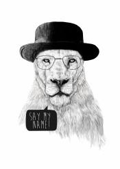 lion animal black white portrait drawing tv heisenberg