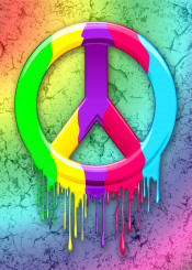 peace peacesign groovy popart hippie paint dripping abstract conceptual rainbow grunge peaceandlove
