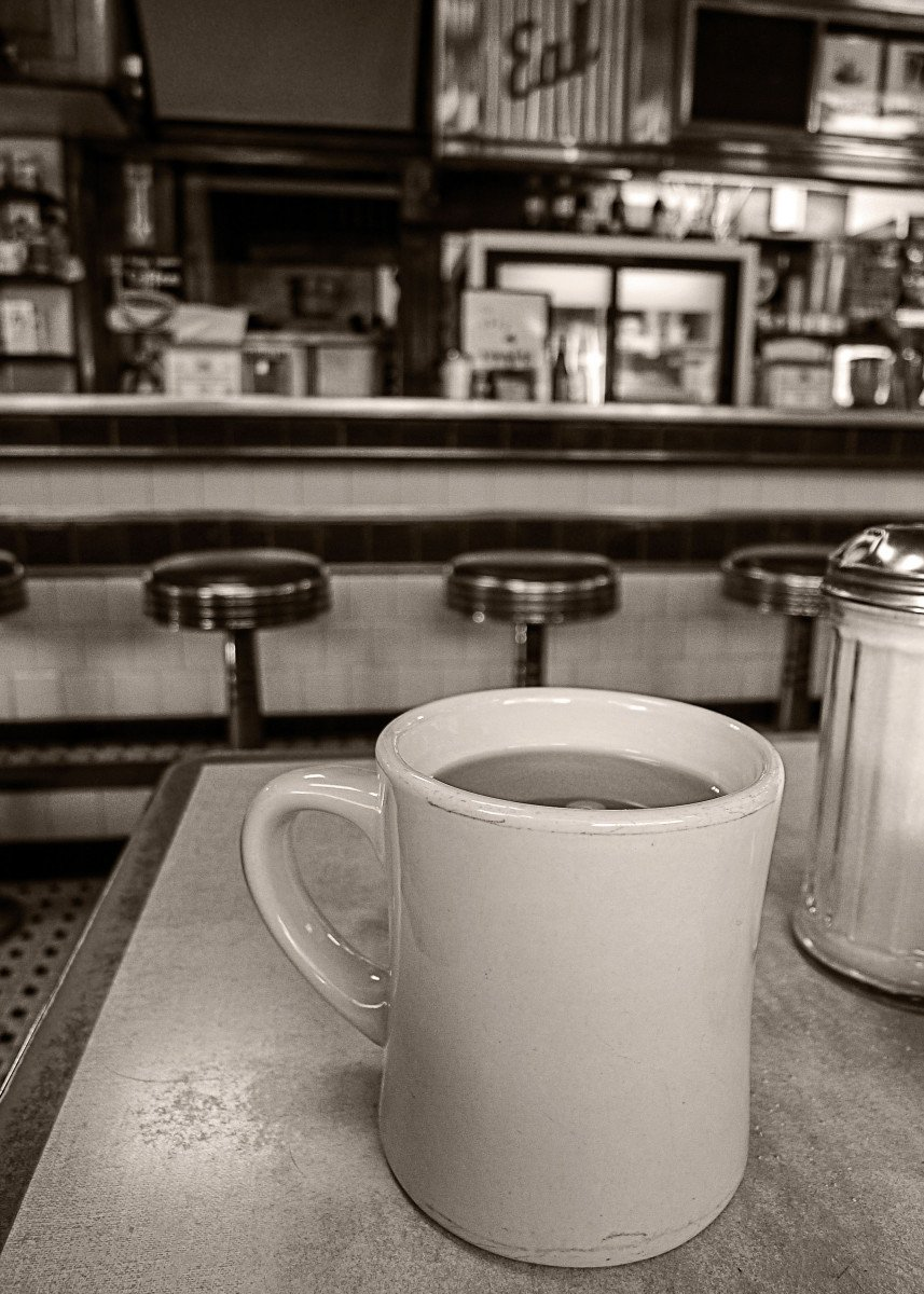 Open All Night - A cup of coffee in a classic American Diner. Fine ar 82313