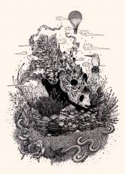 panda illustration bear surreal tattoo cool surreal ink drawing nature