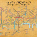 London Underground vintage looking map