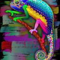 Chameleon Psychedelic Rainbow Colors