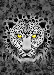 leopard bigcat animal wildlife portrait animalart digitalart exotic art mesmerizing spots