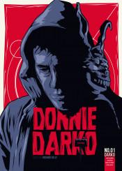 darko donnie movie comic cover design illsutration red blue hero superhero comicbook bunny film