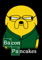 jake adveture breaking bad walter white bacon pancakes heisenberg chemistry science parody mashup