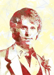 bbc doctor who gallifrey watercolor classic fifth doctor 5th