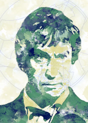 bbc doctor who gallifrey watercolor classic second doctor 2nd