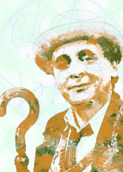 bbc doctor who gallifrey seventh doctor 7th watercolor