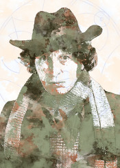 bbc doctor who gallifrey watercolor classic fourth doctor 4th